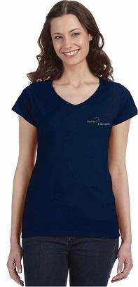 T-Shirt sport col en V